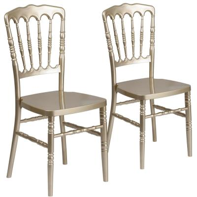 Gold Resin Napoleon Chiavari Chairs (Set of 2)
