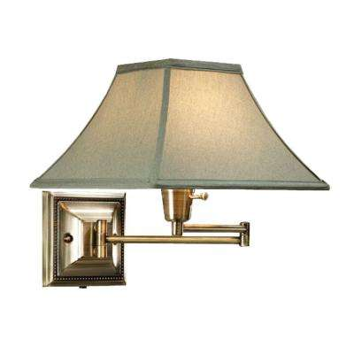 Distressed/Antique Brass Kingston Swing-Arm Pin-up Lamp