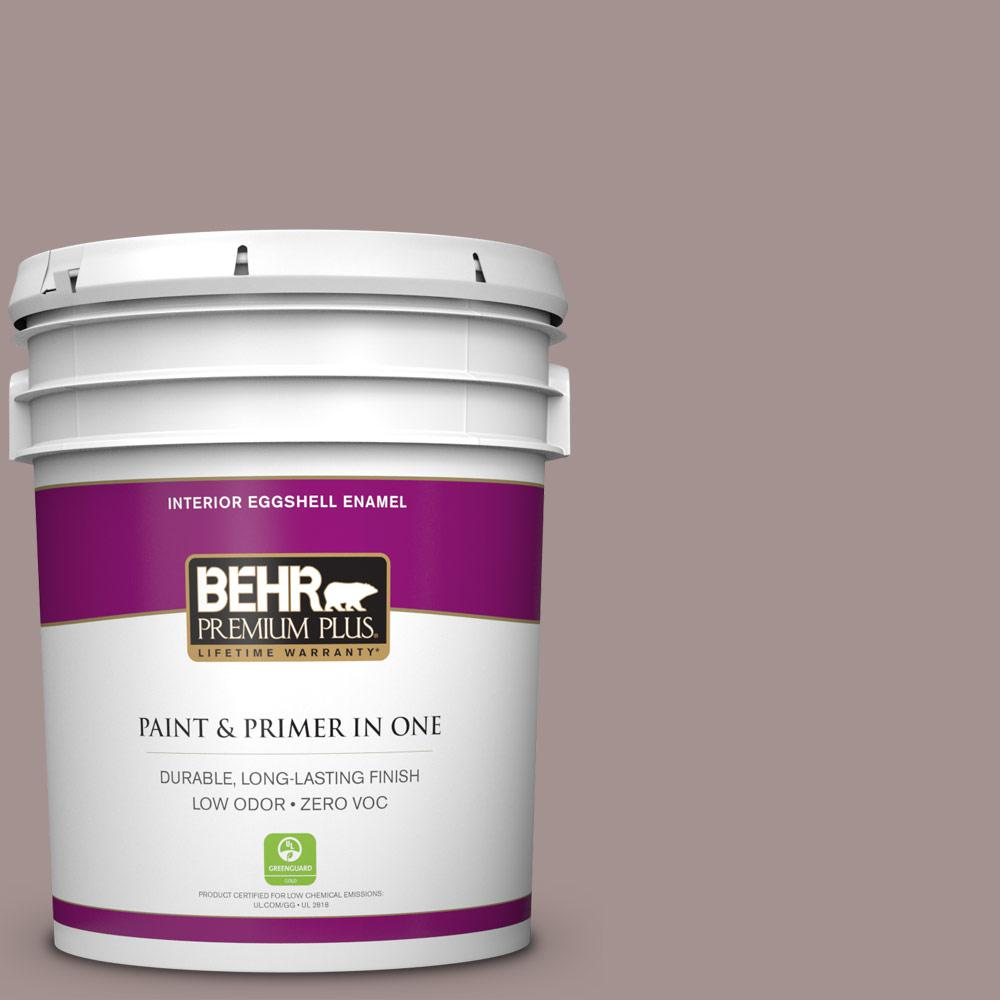 BEHR Premium Plus 5-gal. #740B-4 Suede Leather Zero VOC Eggshell Enamel Interior Paint
