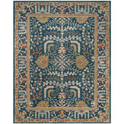 Antiquity Dark Blue/Multi 8 ft. x 10 ft. Area Rug