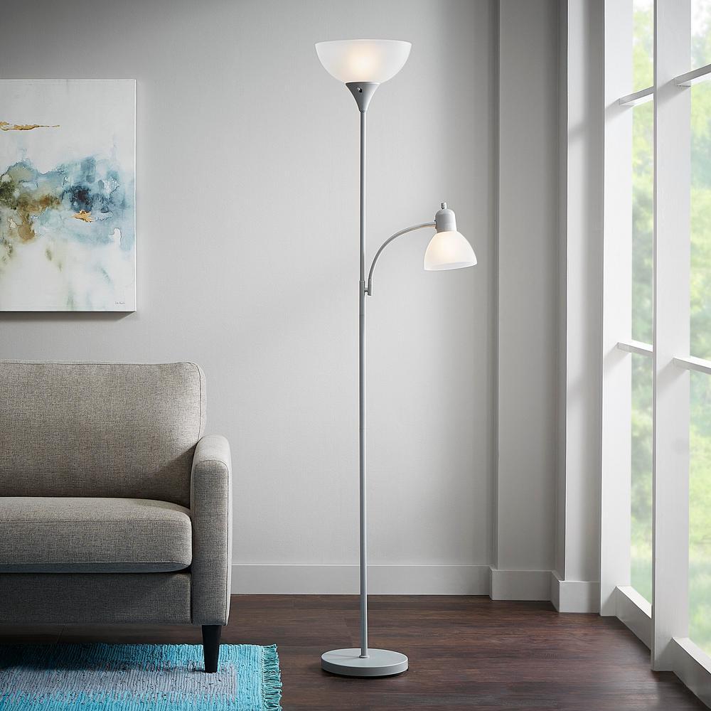 71.5 in. Silver Mother/Daughter Floor Lamp