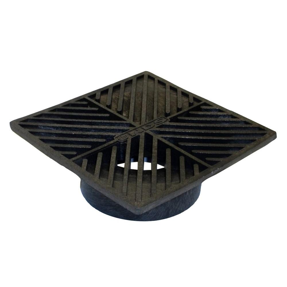 Nds 6 In Square Grate Black 4 The Home Depot