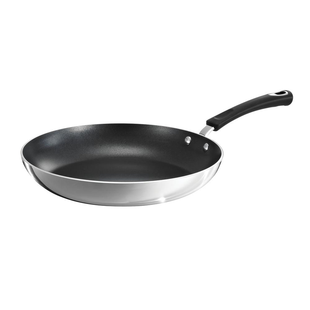 Style Polished Aluminum 12 in. Fry Pan