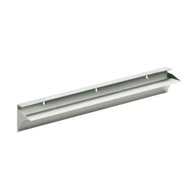 Rail 23-1/2 in. L Shelf Bracket Set in Silver