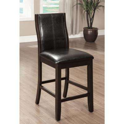 Townsend II Brown Cherry Transitional Style Counter Height Chair