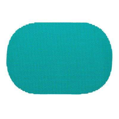 Fishnet Oval Placemat in Teal (Set of 12)