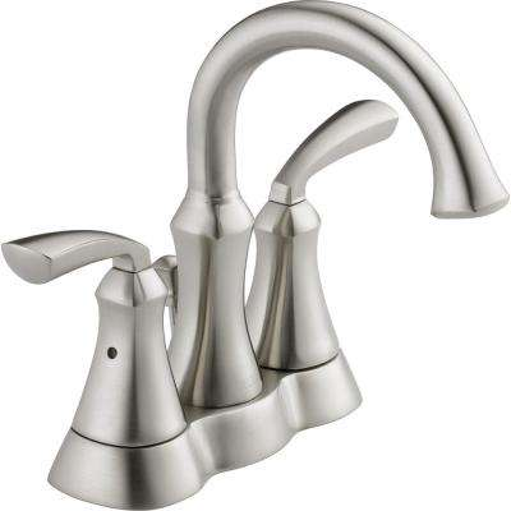 Mandara 4 in. Centerset 2-Handle Bathroom Faucet in Brushed Nickel