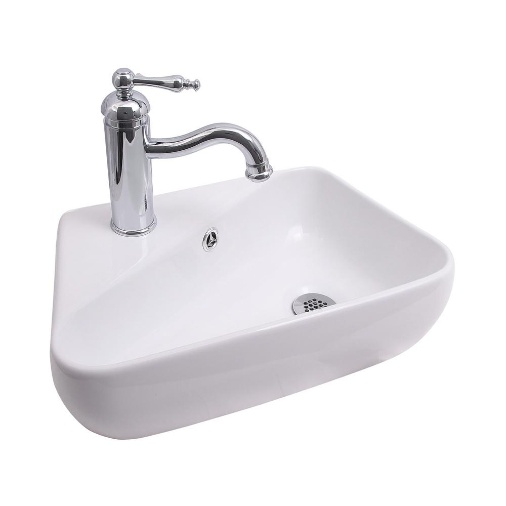 Barclay Products Coco Wall Mount Sink In White 4 1120wh The Home Depot
