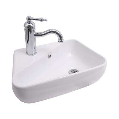 Coco Wall-Mount Sink in White
