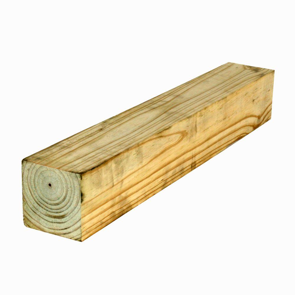 4 in. x 4 in. x 8 ft. Southern Pine Chamfer