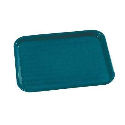 14 in. x 18 in. Polypropylene Tray in Teal (Case of 12)