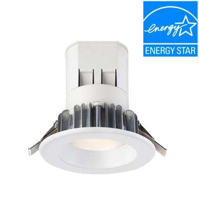 Easy Up 4 in. Bright White LED Recessed Light with 4000K J-Box (No Can Needed)