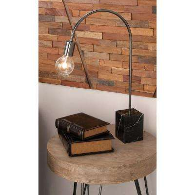 24 in. Modern Black Bent Table Lamp