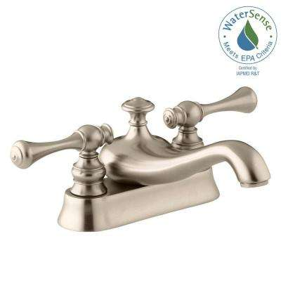 Revival 4 in. Centerset 2-Handle Low-Arc Water-Saving Bathroom Faucet in Vibrant Brushed Bronze