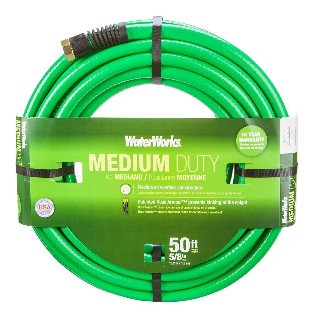 easy flexible garden hose home depot. Medium Duty Water Hose WaterWorks 5 8 in  Dia x 50 ft WWT4058050