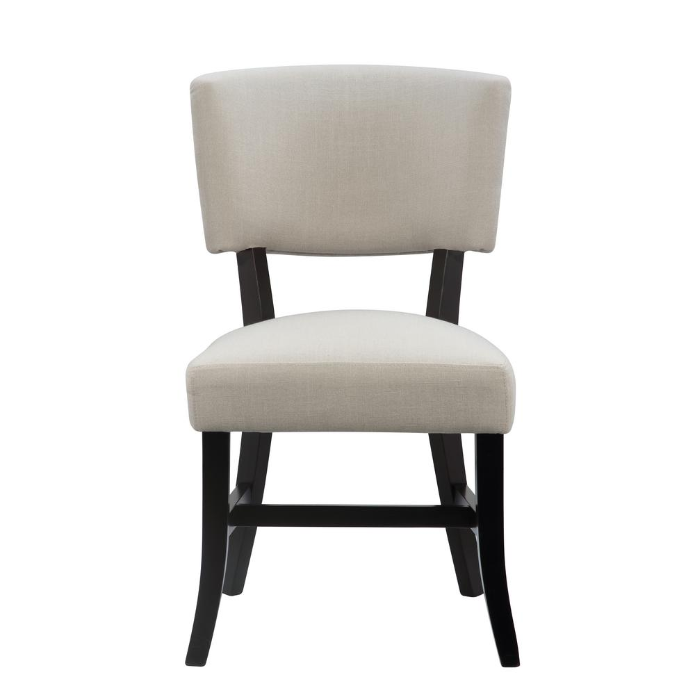 International concepts rayna stone fabric and black for Printed upholstered dining chairs