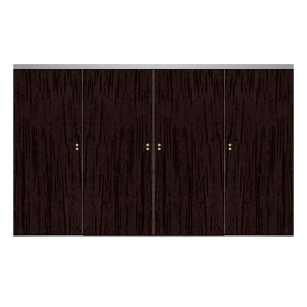 120 Espresso Finished Interior Closet Doors Doors
