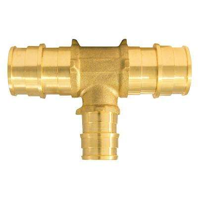 3/4 in. x 3/4 in. x 1/2 in. Brass PEX-A Expansion Barb Reducing Tee (5-Pack)