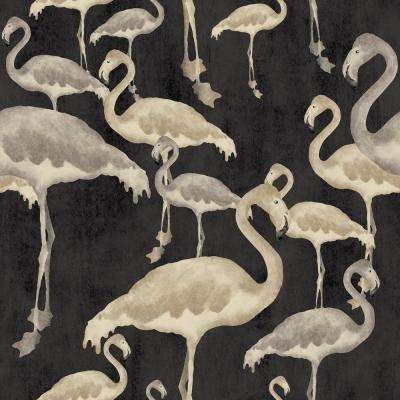 Arthouse Flamingo Beach After Dark Unpasted Wallpaper