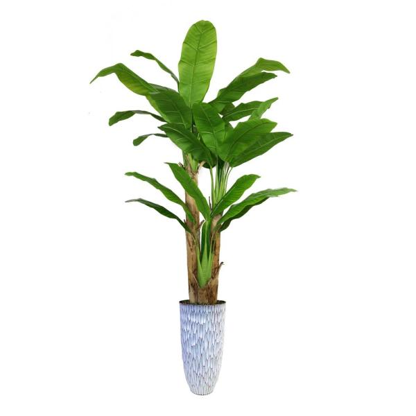 Laura Ashley 91.5 in. Tall Banana Tree Artificial Faux Decorative in
