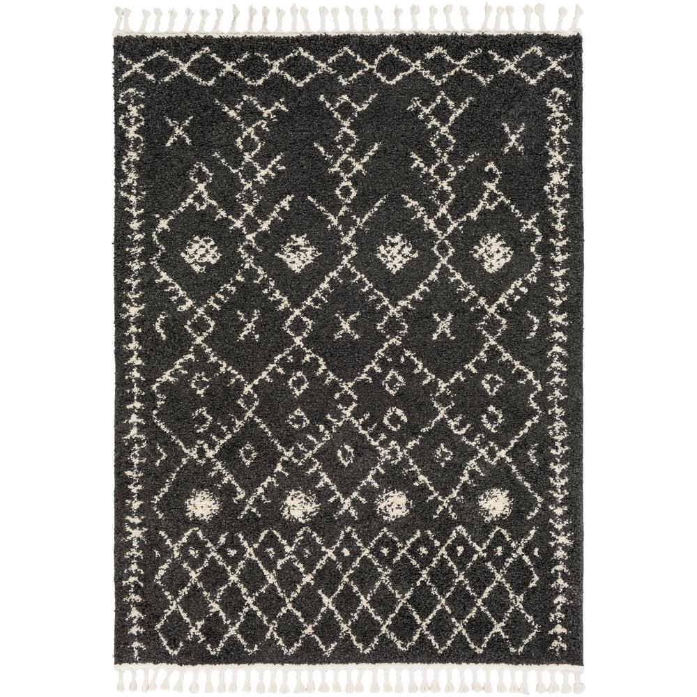 Farai Black 5 ft. 3 in. x 7 ft. 3 in. Geometric Area Rug