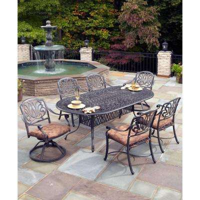 Floral Blossom 7-Piece Outdoor Patio Dining Set