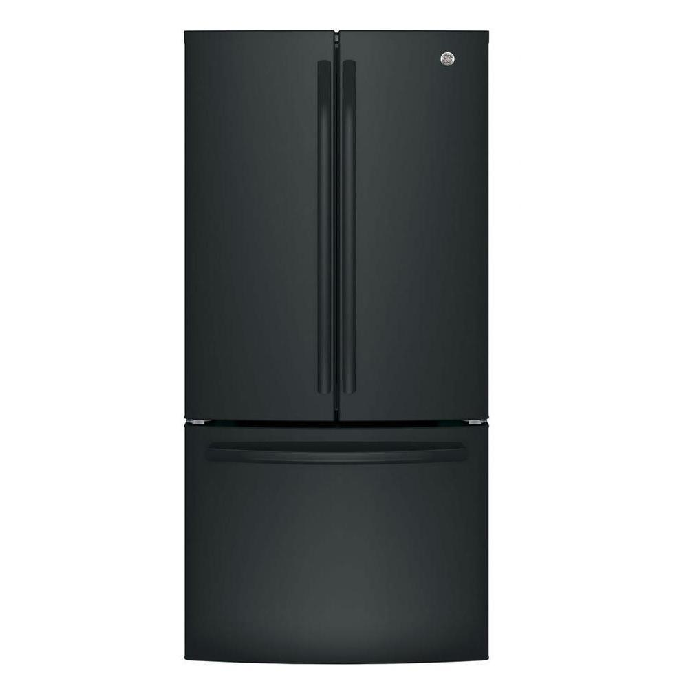 Ge 33 In W 248 Cu Ft French Door Refrigerator In Black With