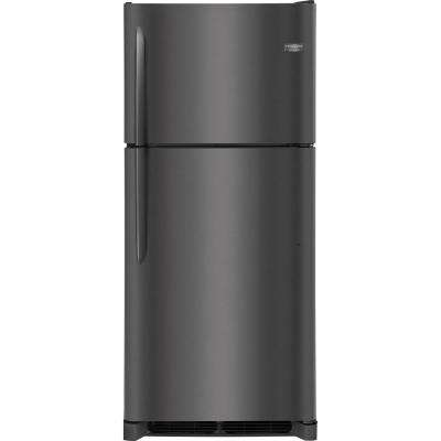 20 cu. ft. Top Freezer Refrigerator in Smudge Proof Black Stainless Steel