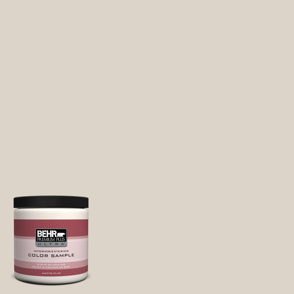 BEHR Premium Plus Ultra 8 oz. #720C-2 Chocolate Froth Flat Interior/Exterior Paint and Primer in One Sample