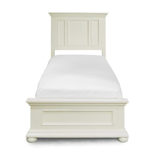 Home Styles Dover White Twin Panel Bed 5427-400