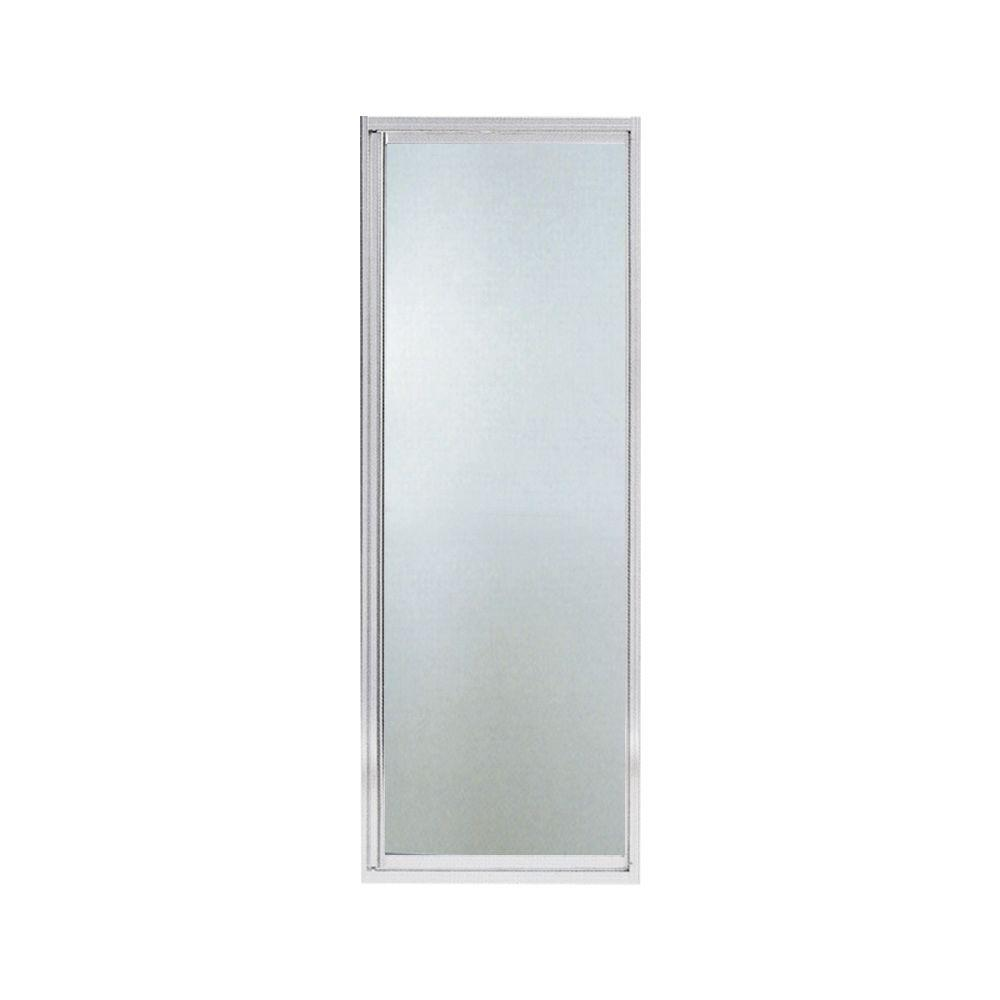 STERLING Intrigue 27-9/16 in. x 72 in. Neo-angle Shower Door in Silver