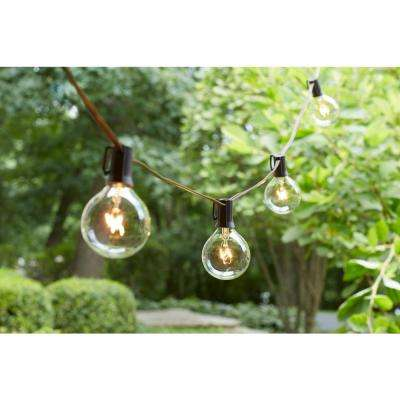 12-Light Large Cafe Clear String Lights