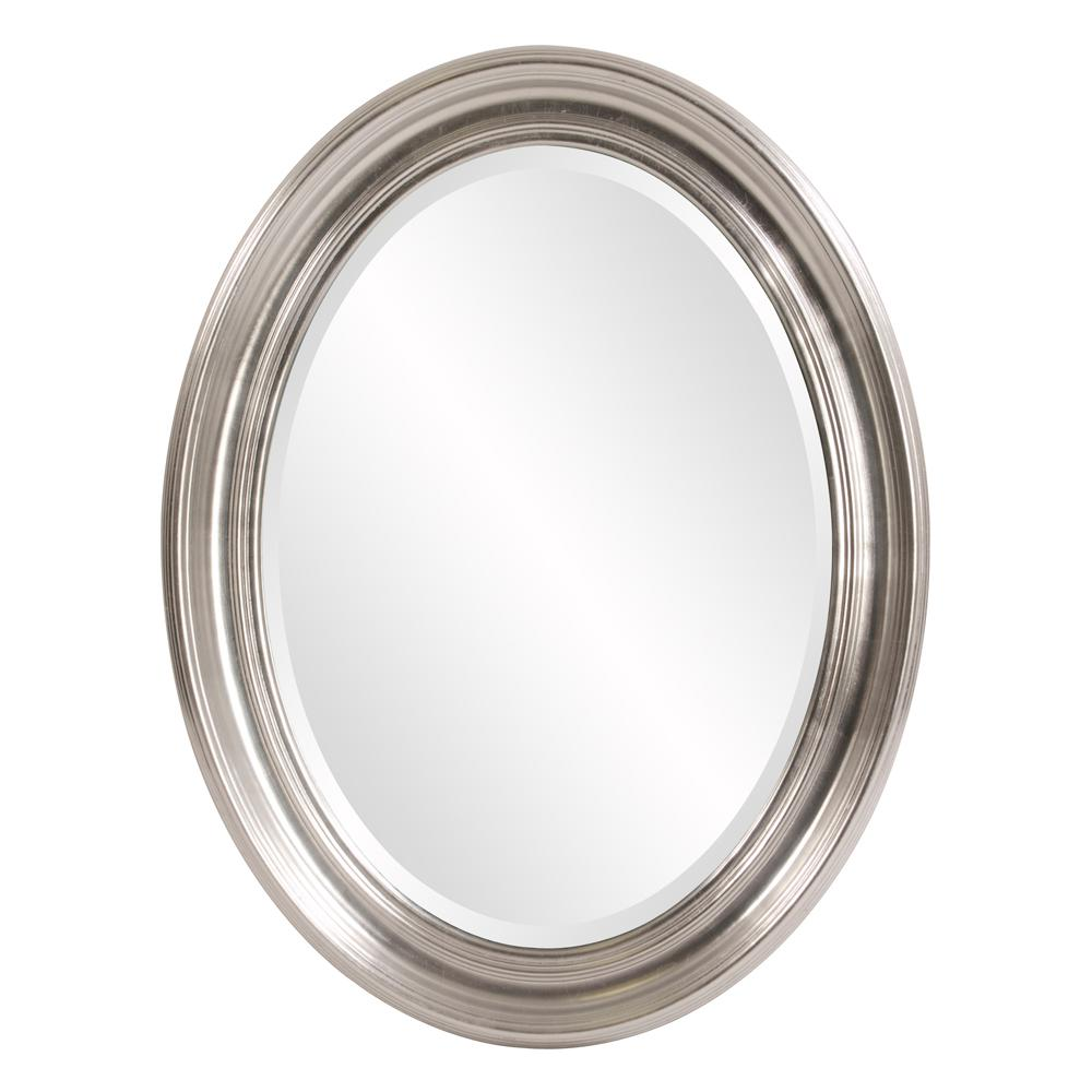 Sterling Oval Silver Mirror 56176 The Home Depot