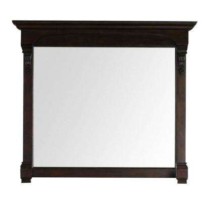 Brookfield 47 in. W x 42 in. H Framed Wall Mirror in Burnished Mahogany