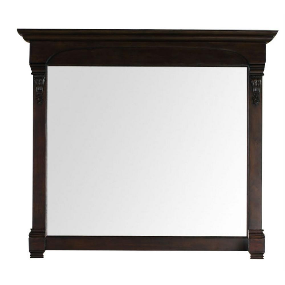 James Martin Vanities Brookfield 47 in. W x 42 in. H Framed Wall Mirror in Burnished Mahogany