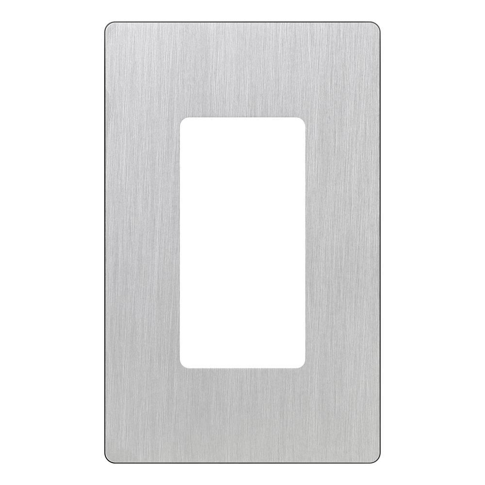 25 pc Decorator 1-Gang Stainless Steel Wall Plate Metal Receptacle Wallplate