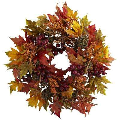 24 in. Maple and Berry Wreath