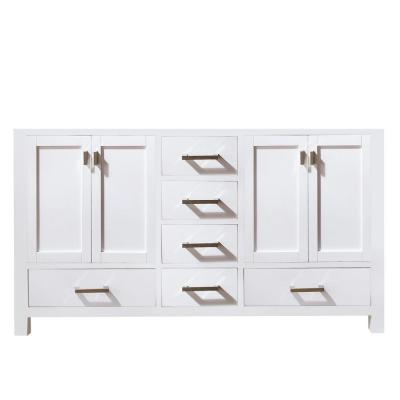 Modero 60 in. W x 21 in. D x 34 in. H Double Vanity Cabinet Only in White