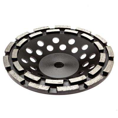 7 in. Double Row Diamond Grinding Cup Wheel