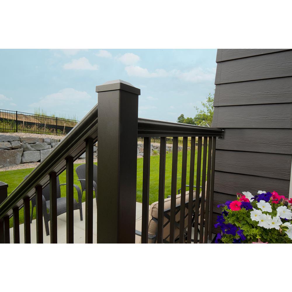 Aria Railing Deck Post Kit Bronze Powder Coated Aluminum Hollow Core 42 in L