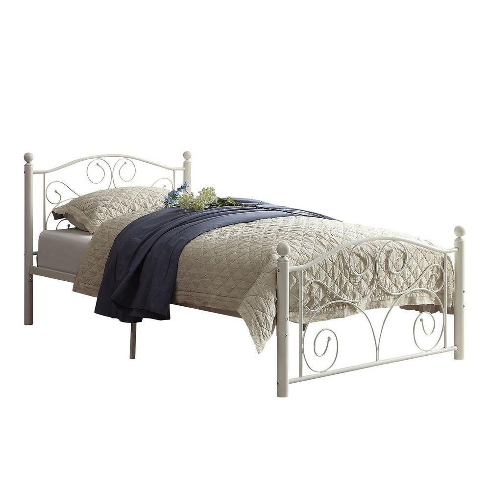 Homesullivan Blossom White Twin Bed