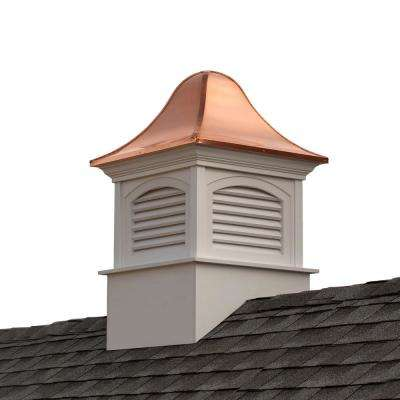 Fairfield 42 in. x 42 in. x 65 in. Vinyl Cupola with Copper Roof
