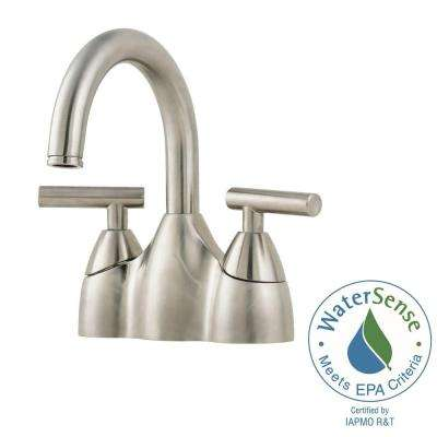 Contempra 4 in. Centerset 2-Handle Bathroom Faucet in Brushed Nickel
