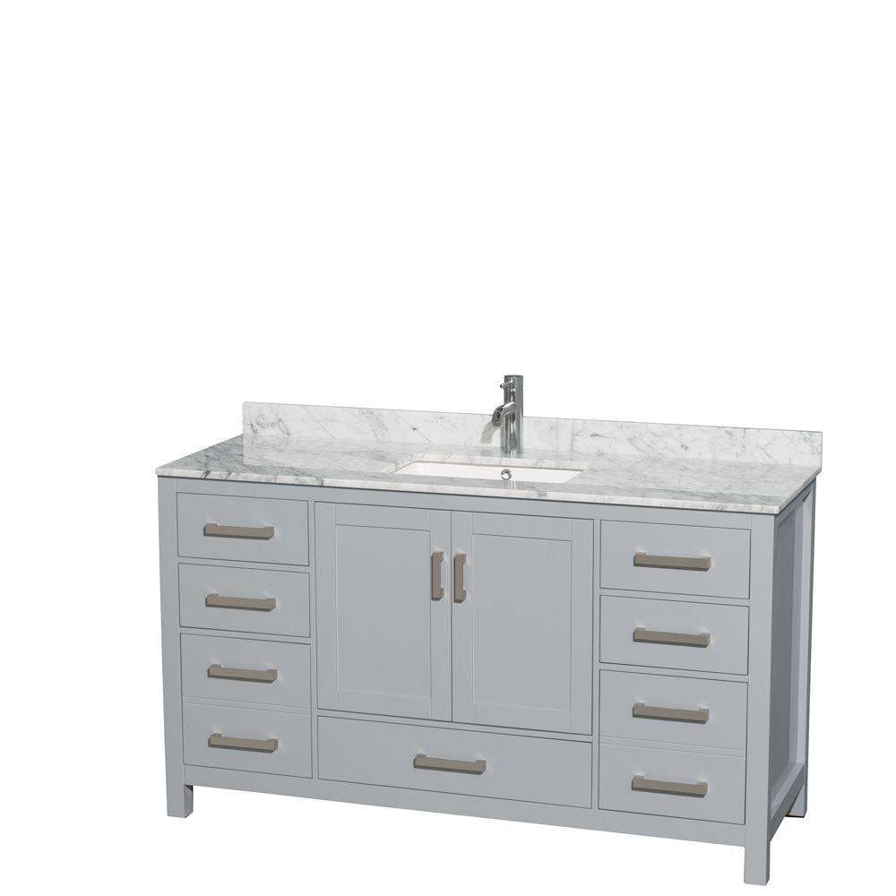 Wyndham Collection Sheffield 60 In W X 22 In D Vanity In