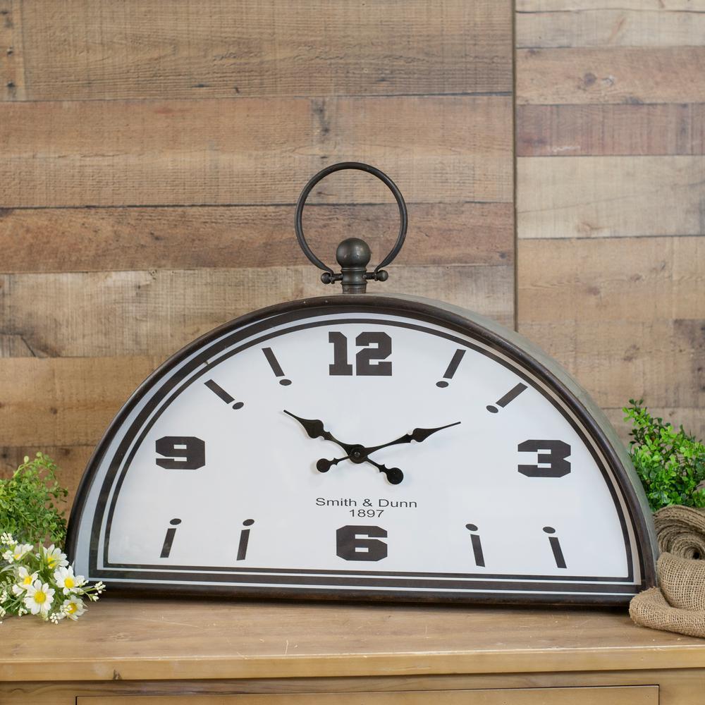 Metal Half Clock