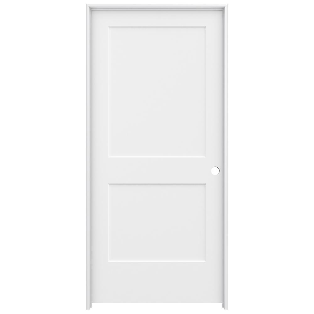 home depot jeld wen interior doors jeld wen 36 in x 80 in primed left smooth 26758