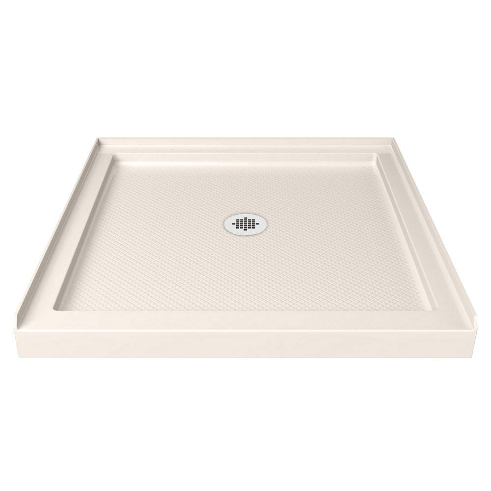 Dreamline Slimline 32 In X Single Threshold Shower Base Biscuit