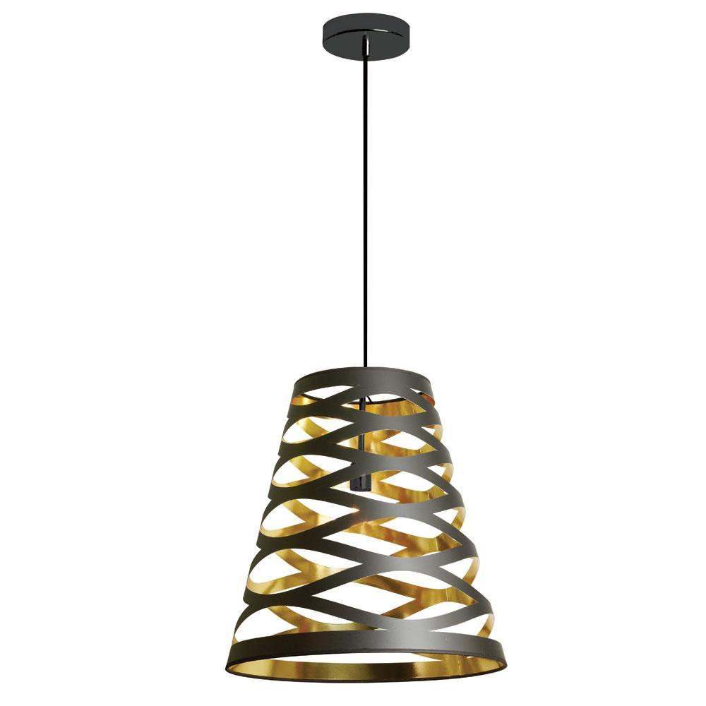 filament design 1light black on gold the home depot