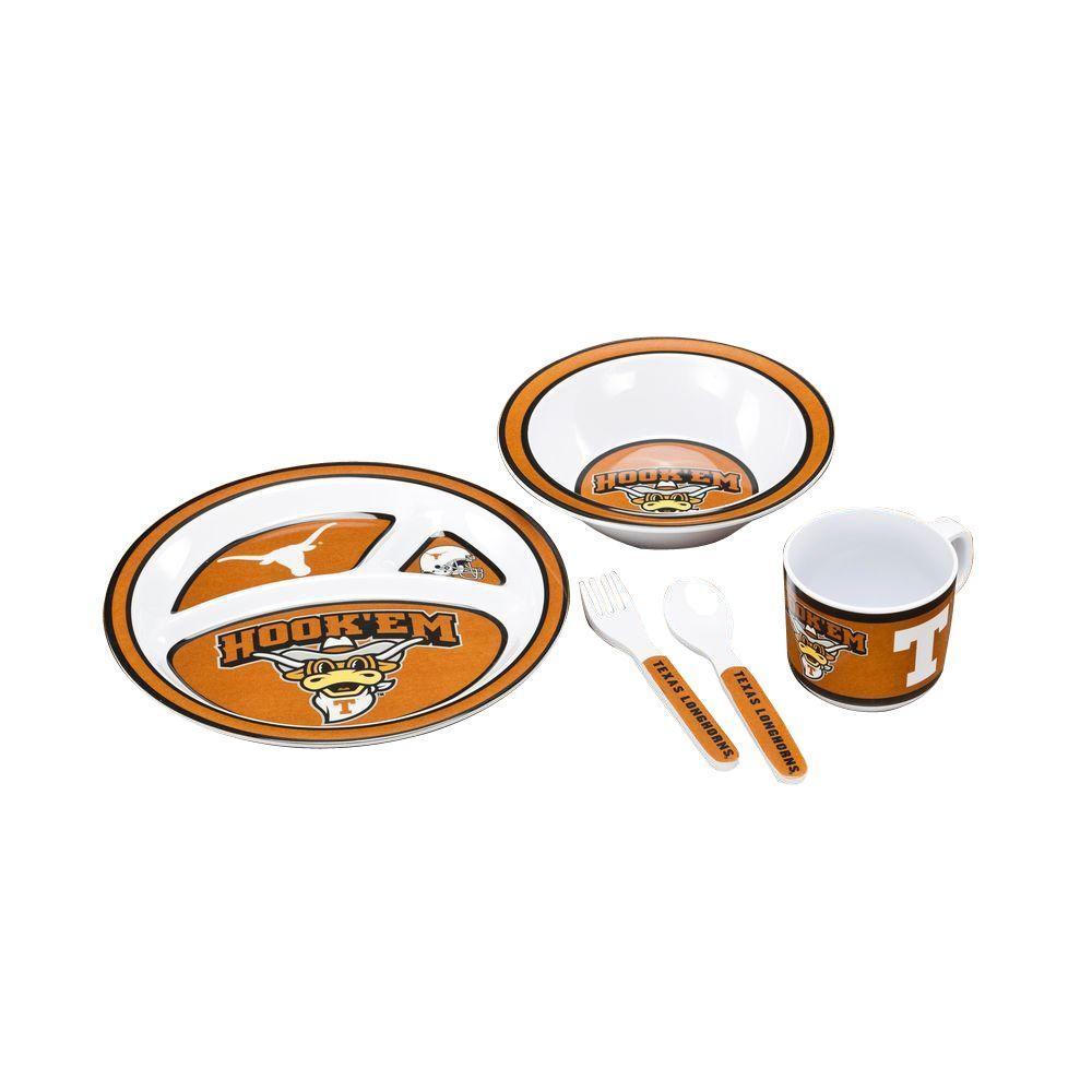 BSI Products NCAA Texas Longhorns 5-Piece Kid's Dish Set