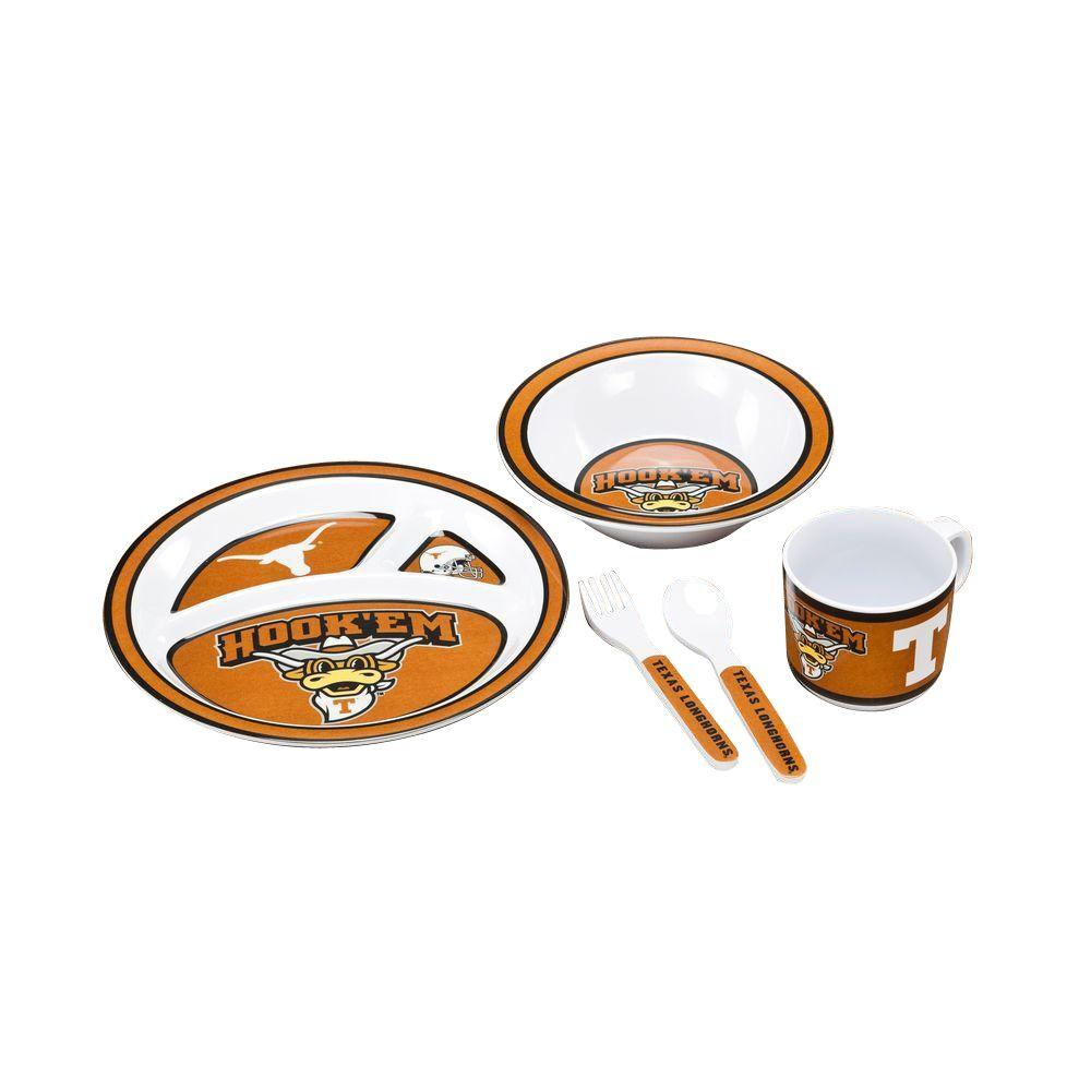 Bsi Products Ncaa Texas Longhorns 5 Piece Kids Dish Set 31034 The